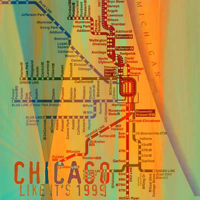 Lake Michigan Digital Art - Chicago Like It's 1999 by Brandi Fitzgerald