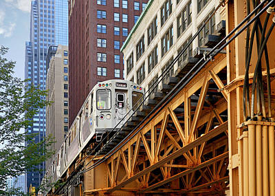 Chicago Loop 'l' Art Print