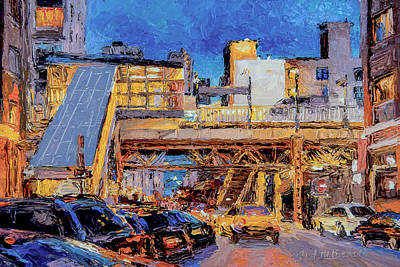 Painting - Chicago Loop Station At Superior Street by Judith Barath