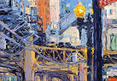 Painting - Chicago Loop Structure by Judith Barath