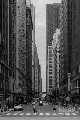 Photograph - Chicago Madison Street Grayscale by Jennifer White