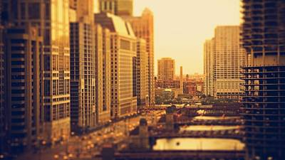 Building Digital Art - Chicago by Maye Loeser