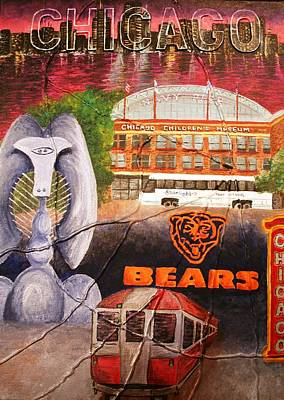 Chicago Bears Painting - Chicago by Melissa Wiater Chaney