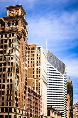 Communication Photograph - Chicago Michigan Avenue Buildings by Paul Velgos