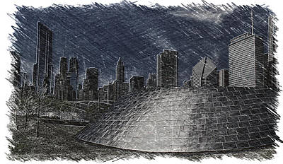 Chicago Millennium Park Bp Bridge Pa 02 Art Print by Thomas Woolworth