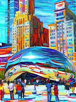 Digital Art - Chicago Millennium  by Yury Malkov