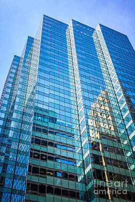 Chicago Modern Glass Office Building Architecture Art Print by Paul Velgos