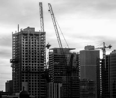 Photograph - Chicago Morning Construction by Nisah Cheatham