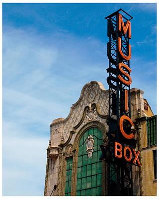 Music Box Photograph - Chicago Music Box Theater by Patrick  Warneka