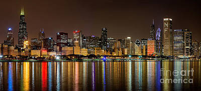 Chicago Nfl Draft Town Print by Jeff Lewis