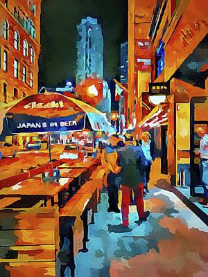 Chicago Night Time Art Print by Yury Malkov