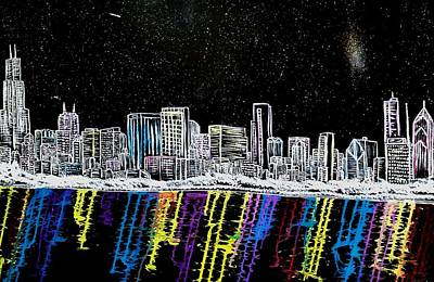 Painting - Chicago Nights by Dink Densmore