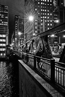 Photograph - Chicago Nights by Linda Unger