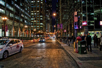 Chicago November Night Pa 04 Art Print by Thomas Woolworth