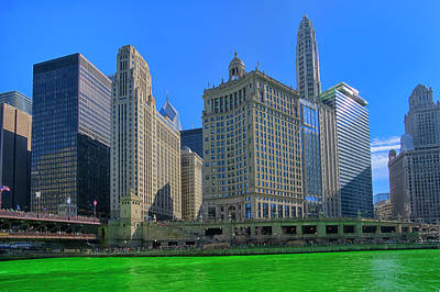 Photograph - Chicago On St. Patrick's Day by Alan Toepfer