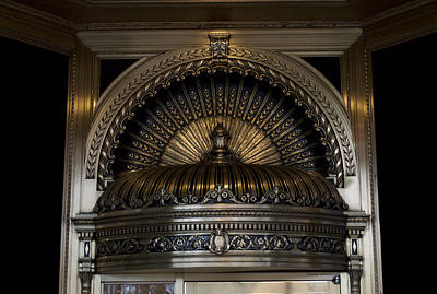 Ornamentally Photograph - Chicago Ornamental Downtown Entrance Way by Thomas Woolworth