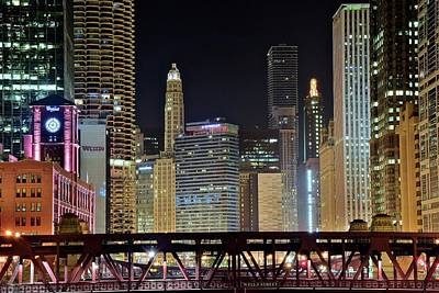 Photograph - Chicago Over Wells Street by Frozen in Time Fine Art Photography