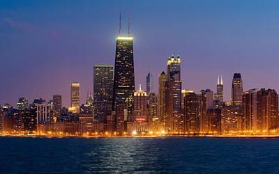 Schwartz Photograph - Chicago Panorama by Donald Schwartz