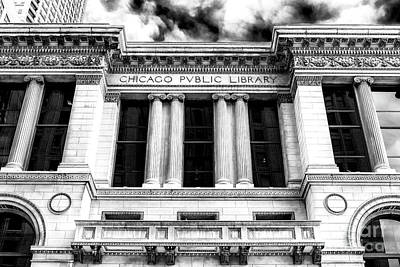 Photograph - Chicago Public Library by John Rizzuto