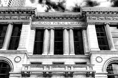 Photograph - Chicago Public Library Profile by John Rizzuto
