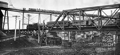 Photograph - Chicago: Railroads, 1906 by Granger
