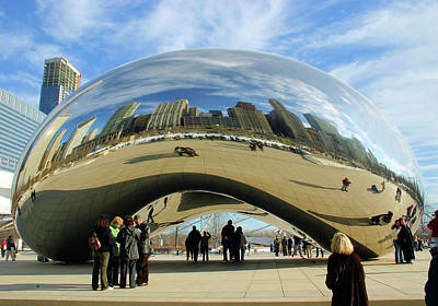 Skylines Royalty-Free and Rights-Managed Images - Chicago Reflected by Kristin Elmquist