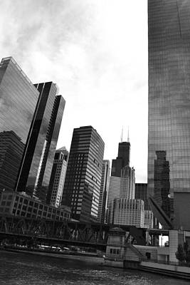 Photograph - Chicago River And Willis Tower by Michelle Calkins