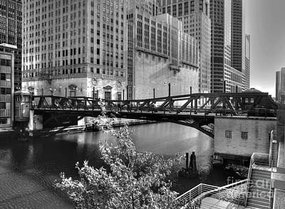 Photograph - Chicago River At Civic Opera House by David Bearden