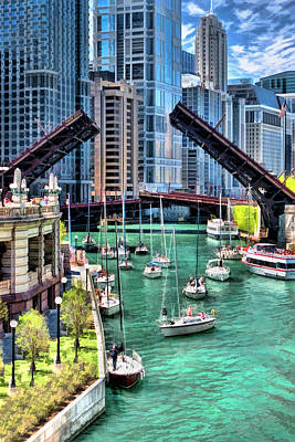 Chicago River Boat Migration Art Print by Christopher Arndt