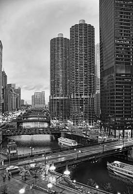Photograph - Chicago River Bridges by Tammy Wetzel