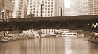 Chicago River Calm Art Print