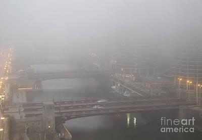 Lady Bug - Chicago River Fog by Ann Horn