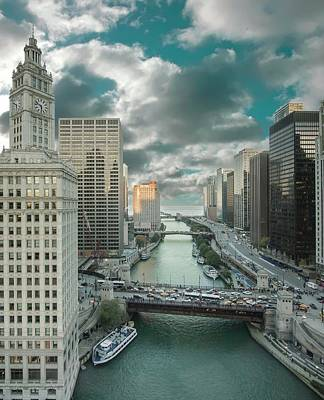 Photograph - Chicago River by Greg Thiemeyer
