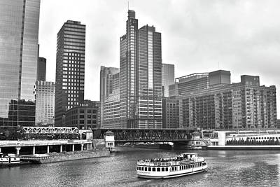 Photograph - Chicago River L And Towers by Frozen in Time Fine Art Photography