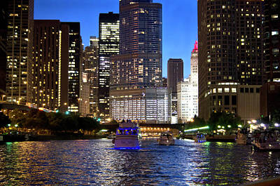 Wall Art - Photograph - Chicago River by Miguel Malagon