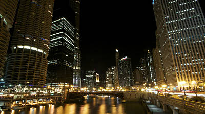 Chicago River Nights Art Print