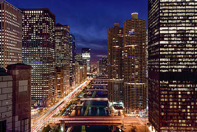 Photograph - Chicago River by Patrice Bilesimo