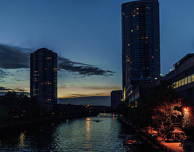 Art Print featuring the photograph Chicago River Scene by Nisah Cheatham