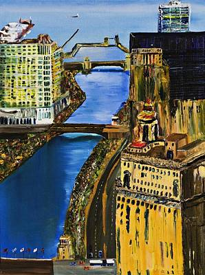 Chicago River Skyline Art Print by Gregory Allen Page