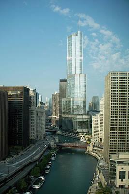 Photograph - Chicago River Skyline by John Black