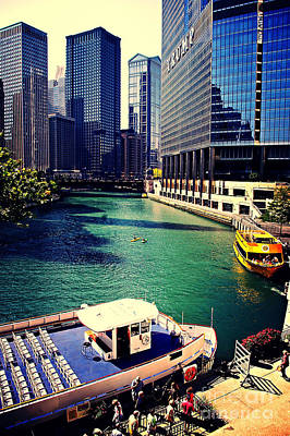 Photograph - City Of Chicago - River Tour by Frank J Casella
