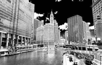 Photograph - Chicago River View by John Rizzuto