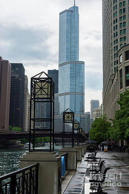 Photograph - Chicago River Walk by Jennifer White