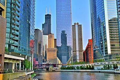 Riverwalk Photograph - Chicago Riverfront 2017 by Frozen in Time Fine Art Photography