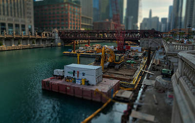 Photograph - Chicago Riverwalk Construction II by Nisah Cheatham
