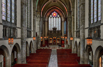Uic Photograph - Chicago Rockefeller Chapel by Mike Burgquist