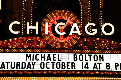 Chicago Sign - Chicago Theater Art Print by Dmitriy Margolin