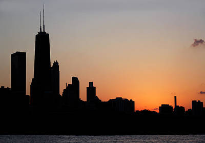 Photograph - Chicago Skyine At Sunset by Marilyn Hunt