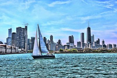 Photograph - Chicago Skyline # 2 by Allen Beatty