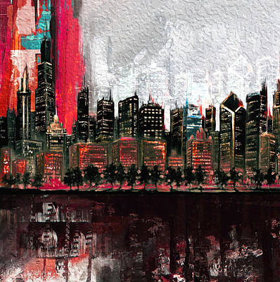 Chicago Skyline 201 4  Original by Mawra Tahreem